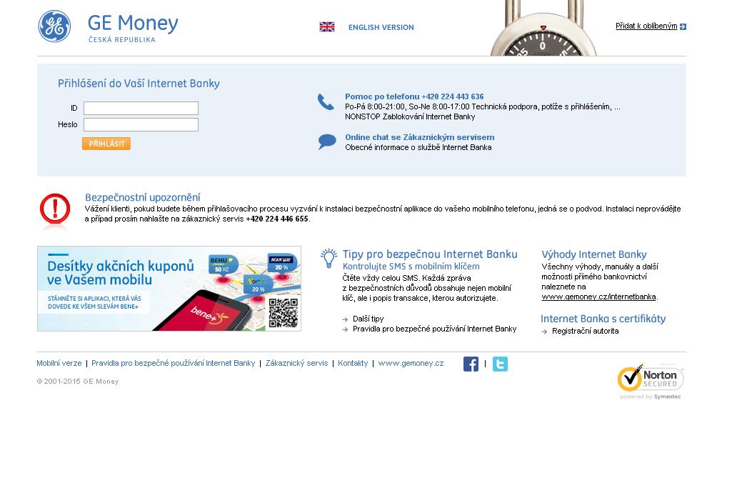 GEmoney internet banka přihlásit se